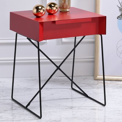 Gualacao End Table Color: Red