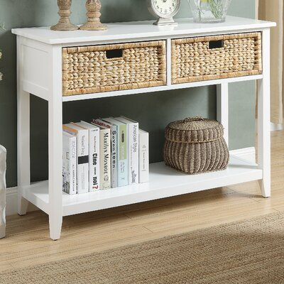 Flavius Console Table Finish: White