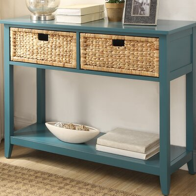 Flavius Console Table Finish: Teal