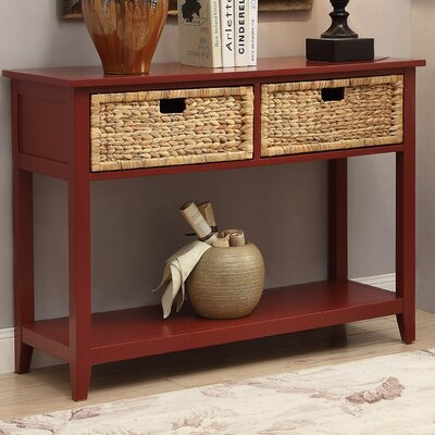 Flavius Console Table Finish: Burgundy