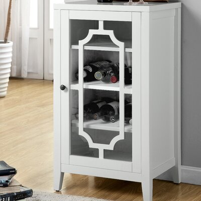 Fina 8 Bottle Floor Wine Cabinet Finish: White