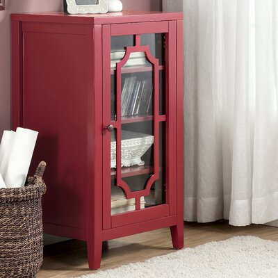 Fina 8 Bottle Floor Wine Cabinet Finish: Burgundy