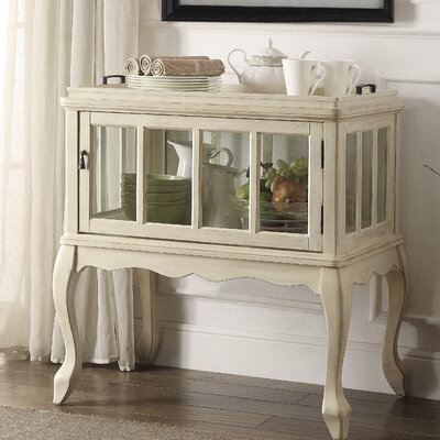 Fidelia Server with Tray Color: Antique White