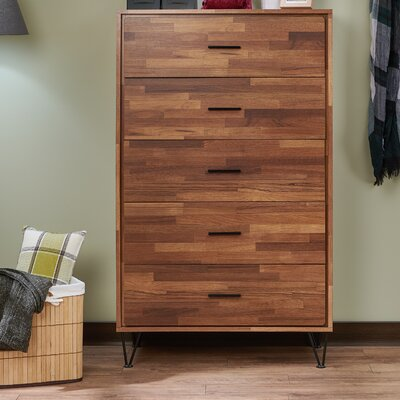 Deoss 5 Drawer Chest Color: Walnut