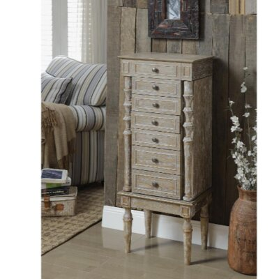 ACME Furniture Taline Jewelry Armoire with Mirror