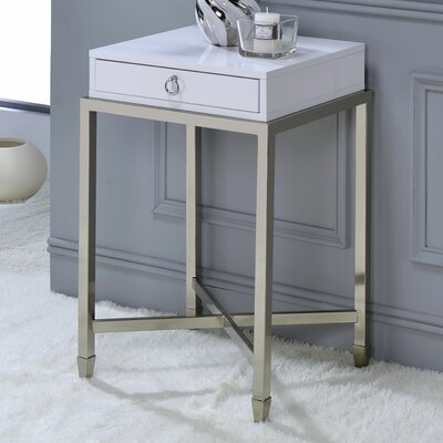 Solem End Table Color: White