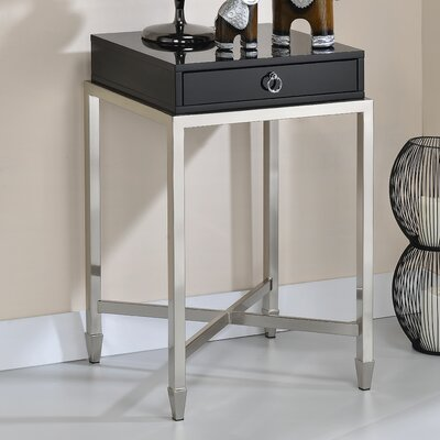 Solem End Table Color: Black