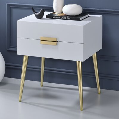 Pierre End Table Color: White