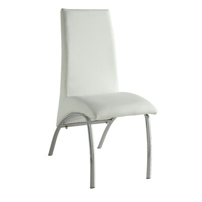 Demar Side Chair Upholstery: White