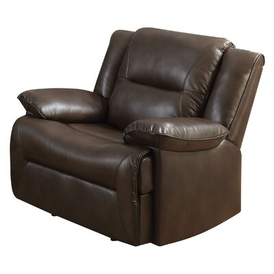 Mullinax Glider Leather Recliner