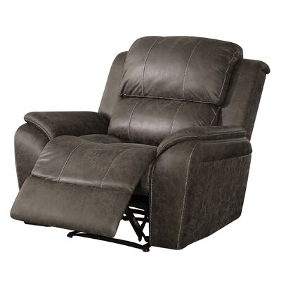 Mullenax Polished Microfiber Recliner