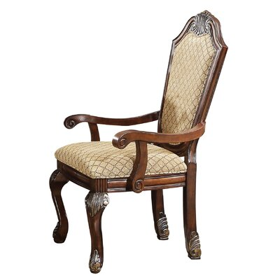 Alfort Queen Anne Arm Chair Finish: Espresso