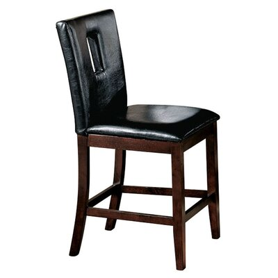Needham Cut-out Backrest Dining Chair Upholstery: Black