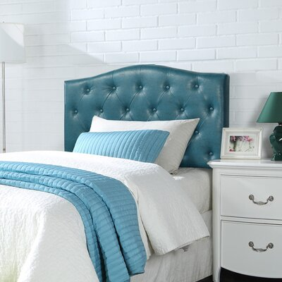 Powell Upholstered Panel Headboard Upholstery: Blue