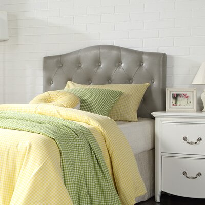Powell Upholstered Panel Headboard Upholstery: Gray
