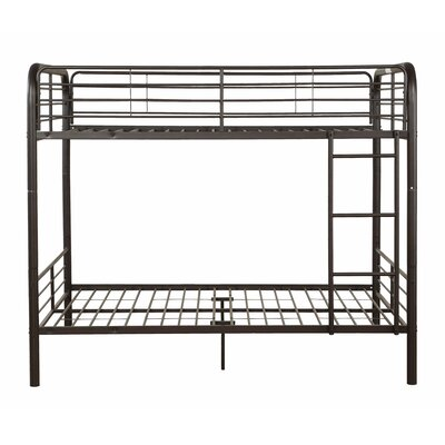 Dominik Full over Full Slat Bunk Bed Finish: Dark Brown
