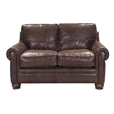 Quinton Top Grain Leather Loveseat