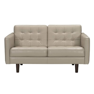 Erykah Leather Loveseat