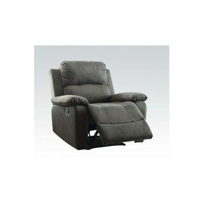 Bina Memory Foam Manual Wall Hugger Recliner Upholstery: Charcoal