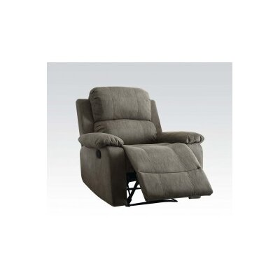 Bina Memory Foam Manual Wall Hugger Recliner Upholstery: Gray