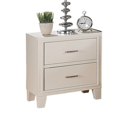 Schmidt 2 Drawer Nightstand