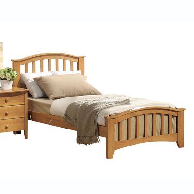 Scheffel Mission Slat Bed Size: Twin