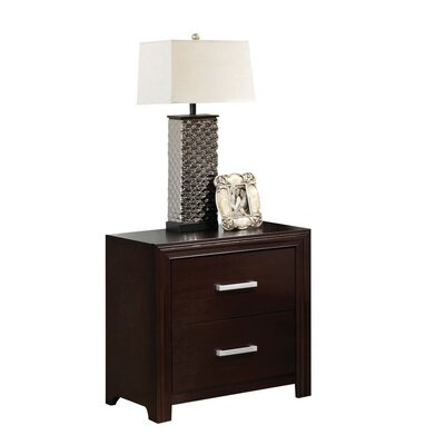 Welcher 2 Drawer Nightstand