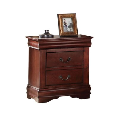 Bader 2 Drawer Nightstand Color: Black