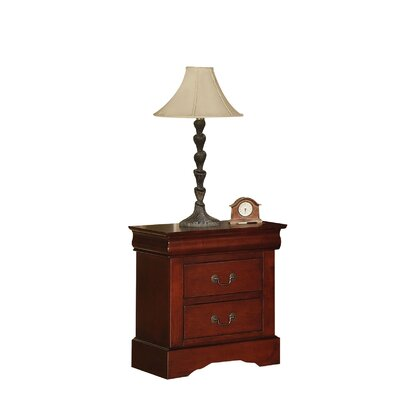Whispering Pines 2 Drawer Nightstand Color: Cherry