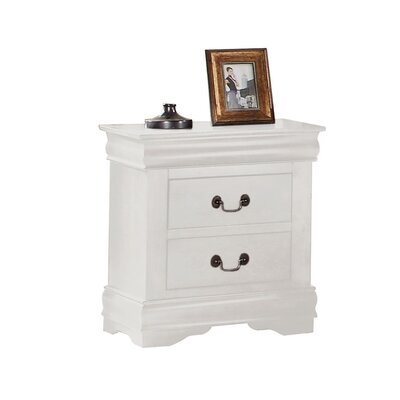 Bader 2 Drawer Nightstand Color: White