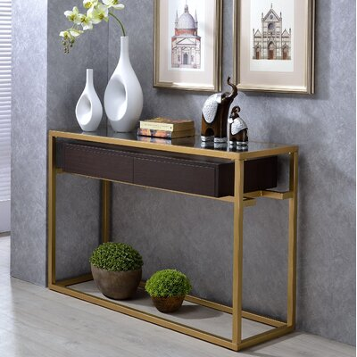 Danyel Glass Console Table