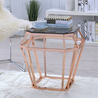 Myron Glass End Table