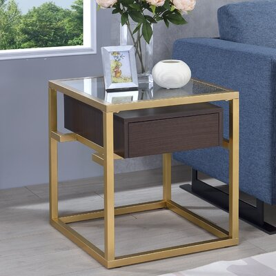 Danyel Rectangular Glass End Table