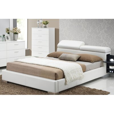 Kellett Upholstered Platform Bed Size: California King, Color: White