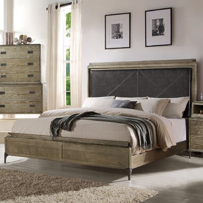 Sadee Upholstered Panel Bed Size: California King