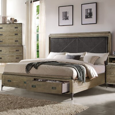 Sadee Upholstered Storage Panel Bed Size: California King
