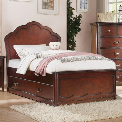 Scalf Panel Bed Size: Twin, Bed Frame Color: Cherry