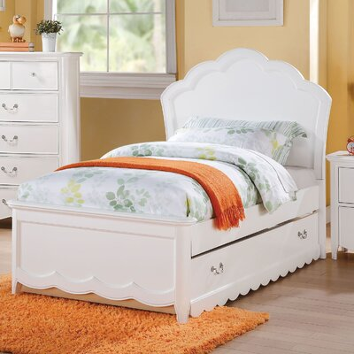 Scalf Panel Bed Size: Full, Bed Frame Color: White