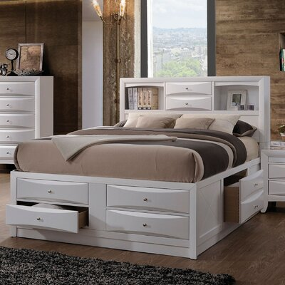 Schermerhorn Storage Platform Bed Size: Full, Color: White