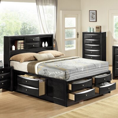 Schermerhorn Storage Platform Bed Size: Full, Color: Black