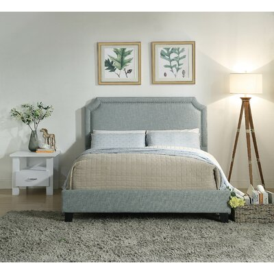 France Queen Upholstered Panel Bed