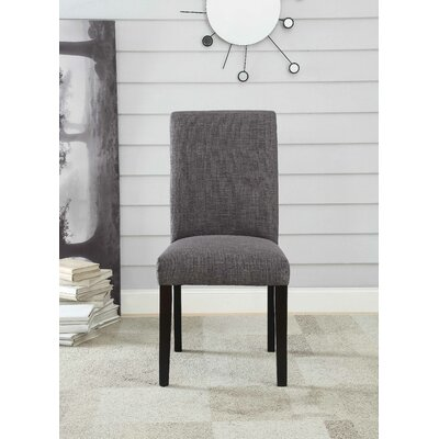 Ellettsville Upholstered High Back Dining Chair Upholstery: Charcoal