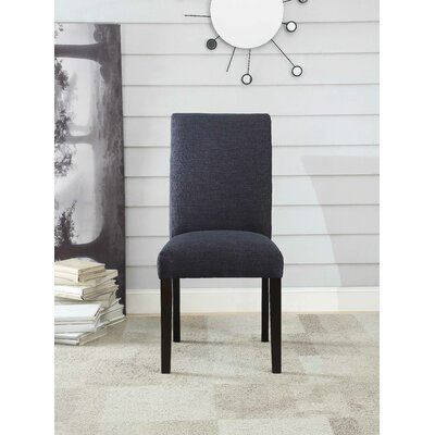 Ellettsville Upholstered High Back Dining Chair Upholstery: Dark Blue Slate
