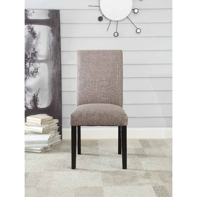 Ellettsville Upholstered High Back Dining Chair Upholstery: Fog Gray