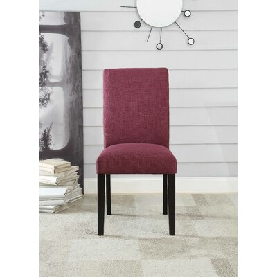 Ellettsville Upholstered High Back Dining Chair Upholstery: Purple