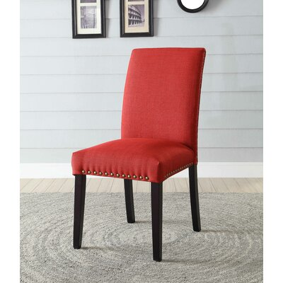 Ellettsville Upholstered Dining Chair Upholstery: Red