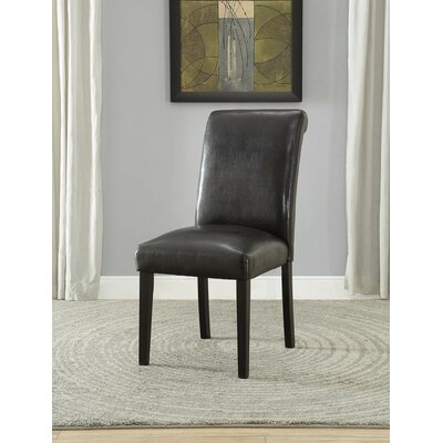 Ellettsville Upholstered Rolled Back Dining Chair Upholstery: Espresso
