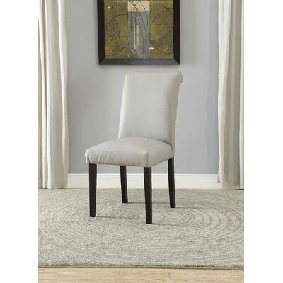 Ellettsville Upholstered Rolled Back Dining Chair Upholstery: Gray