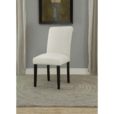 Ellettsville Upholstered Rolled Back Dining Chair Upholstery: Cream