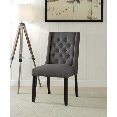 Yodani Upholstered Dining Chair Upholstery: Stone Gray